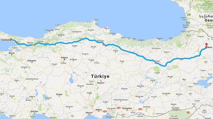 Istanbul Kars Arası Kaç Km Istanbul Kaç Km
