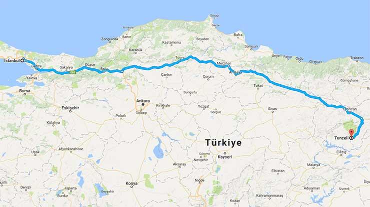 Istanbul Tunceli Arası Kaç Km Istanbul Kaç Km